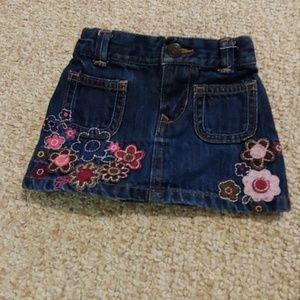 Baby denim flower skirt